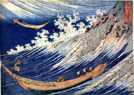 Farbholzschnitt von Hokusai